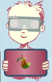 Junge lernt digital