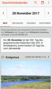 "Bild: App ""Gechichtskalender""."