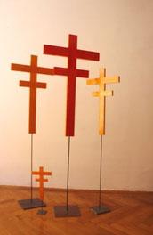 Tischkreuz, Standkreuz, Kreuz, Lack - Kreuz