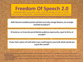 Freedom of speech 2.0