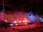 氷点下の森ライトアップ写真