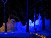 氷点下の森名分、氷のキャンドル