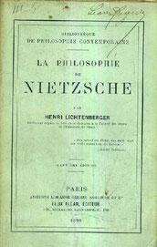 La philosophiie de Friedrich Nietzsche 1898