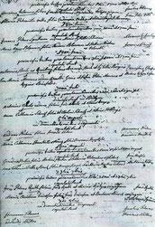 Trauurkunde aus dem Jahr 1798