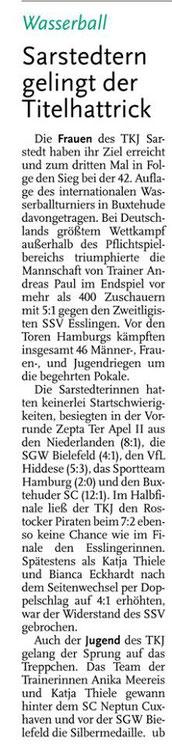 Hannoversche Allgemeine Zeitung/Leinenachrichten vom 12.09.2013