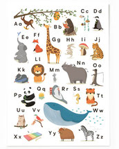 Postkarte ABC Tieralphabet