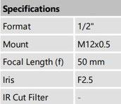 m12 lens 50mm