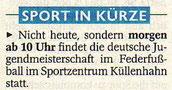 Westdeutsche Zeitung Vorbericht vom 02.10.2004