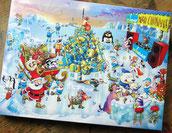 Nordpol, Weihnachtsbaum, Schlitten, Eislauf, Eisbar, Seelöwe, Eisbär, Pinguin, Rentier, Dackel