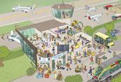 Flughafen Wimmelbild