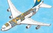 Flugzeug Wimmelbild