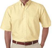 Camisa oxford amarillo paja oxford vestir