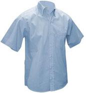 Camisa vestir manga corta oxford azul cielo