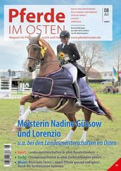 Marlene Franz mit Cosmea – Siegerin des Finales des Eggersmann Junior Cup in Leipzig bei der Partner Pferd. Foto: bb