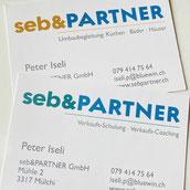 Druckatelier46 Mülchi - Gestaltung Visitenkarte Schwimmbad Messen