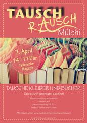 Druckatelier46 Mülchi, Bern - Flugblatt TauschRausch