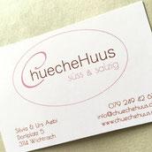 Druckatelier46 Mülchi - Gestaltung Visitenkarten Chuechehus Wichtrach