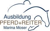 Druckatelier46 - Gestaltung Logo Marina Moser Ausbildung Pferd und Reiter
