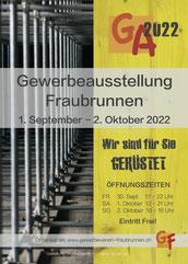 Druckatelier46 - Gestaltung Flyer Gewerbeausstellung Fraubrunnen
