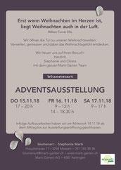 Druckatelier46 - Gestaltung Karte Blumenart - Adventsausstellung - Rückseite