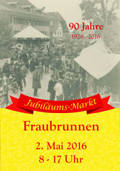 Druckatelier46, Mülchi - Gestaltung Plakat Jubiläums-Markt Fraubrunnen