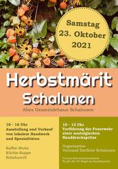 Druckatelier46, Mülchi - Gestaltung Druck Plakat Herbstmärit Schalunen