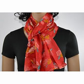 foulard avec belles fleurs