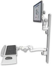 ICWUSA モニターアーム ウォールマウントASUL550-T36D-KPP-A2