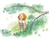 Das Mädchen und der Baum, Kinderbuch, Papermoon Verlag, Roseni Kurániy, Susanne Ward