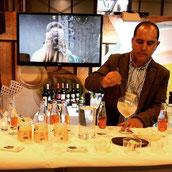 Presentación en la Feria Gourmet de la mermelada de Gin tonic y la Ginebra Gingreen.
