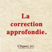 """Correction approfondie """"Faute de temps"""""""
