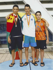 Campeón de España 200 espalda Jul 2009 (Barcelona)