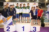Campeón de España 4x100 estilos Feb 2012 (Pontevedra)