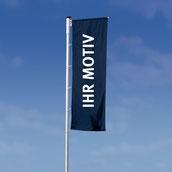Hissflagge für Masten mit Ausleger / Befestigung links