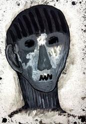 Seelenverwandte 4: Tusche und Acryl auf Papier, 29,5 x 20,5 cm, 2019