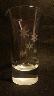 雪柄のグラス ¥500 限定3個だけ ※底に雪が積もっているような不思議なグラス