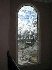 風景のステンドグラス