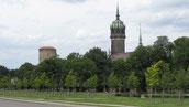Blick auf den Luthergarten