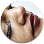 Permanent Make-up betonte Lippen