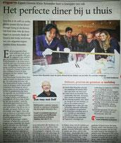 Artikel TC Tubantia Workshop 'Het perfecte diner thuis'