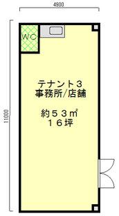 ハイツアカデミック テナント31F平面図