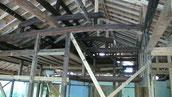 内部小屋組み新材で補強
