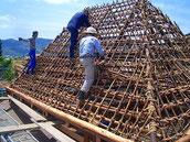 新しく竹を組む再利用できる竹は使用