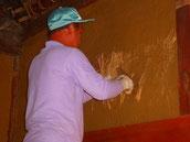 内部土壁塗り