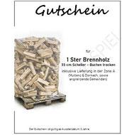 Gutscheine für Brennholz