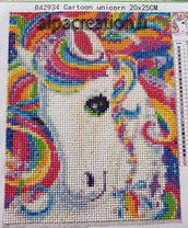 broderie diamant cheval multicolore