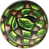Ciottolo serpente - acrilici su sasso
