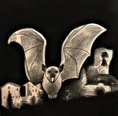 ARRIVA GUIDARELLO IL PIPISTRELLO! il nuovo quaderno da colorare per i piccolissimi, formato 20 x 20 otto disegni & una filastrocca divertente ambientata nella Roccaccia! creazione originale di Patrizia Diamante