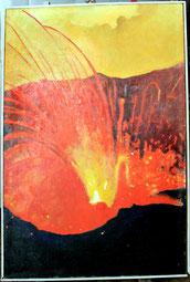 Vulcano, autoritratto interiore - olio su tela