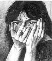 Ritratto di Bjork - matita su carta
